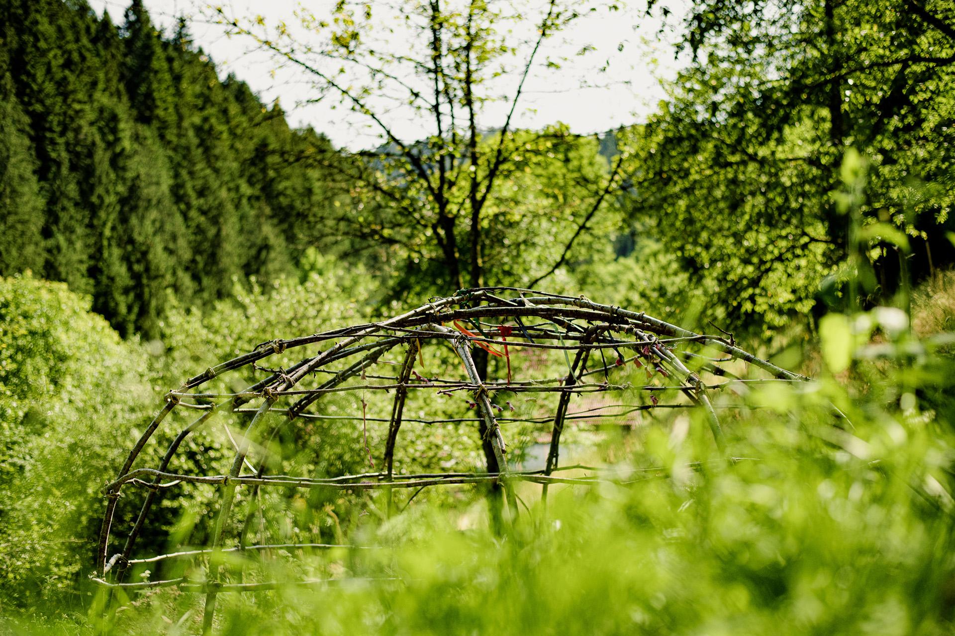 Schwitzhütte in unserem Garten